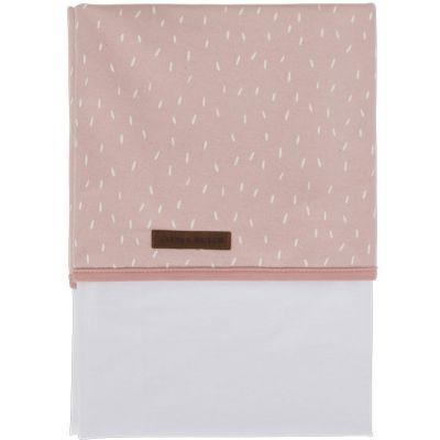 Drap de lit bébé Pink sprinkles (110 x 140 cm) Little Dutch