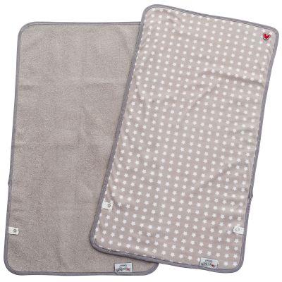 Lot de 2 serviettes de matelas à langer étoiles gris (35 x 65 cm) BabyToLove
