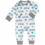 Combinaison pyjama éléphant (0-3 mois : 50 à 60 cm) - Fresk