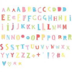 Assortiment de lettres colorées pour lightbox Funky