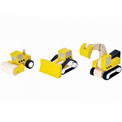 Véhicules construction de route (3 pièces) Plan Toys