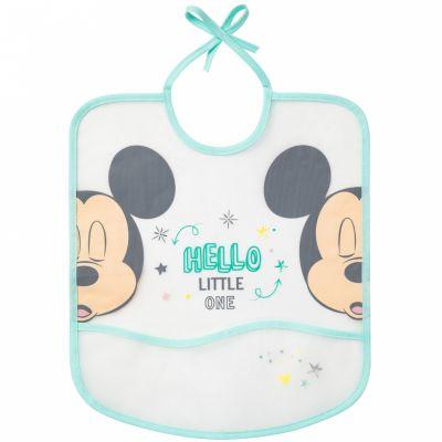 Bavoir à poche Hello Little One Mickey et Minnie  par Babycalin