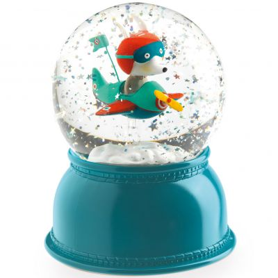 Boule à neige lumineuse Avion  par Little big room by Djeco