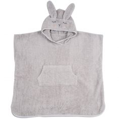 Poncho de bain Lapin gris