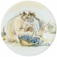 Assiette Ernest et Célestine jardinent