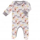 Pyjama léger Renard rose (0-3 mois : 50 à 60 cm) - Fresk