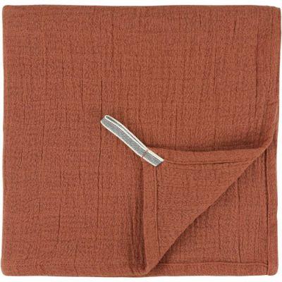 Lot de 2 langes en mousseline de coton Bliss Rust (110 x 110 cm)  par Trixie