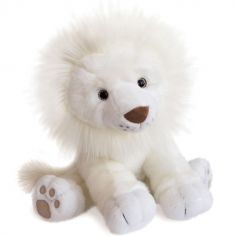 Peluche Lion des neiges (40 cm)