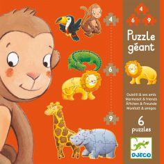 Set de puzzle Ouistiti et ses amis (38 pièces)