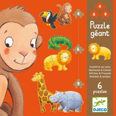 Set de puzzle Ouistiti et ses amis (38 pièces)  par Djeco