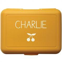 Boîte à goûter jaune (personnalisable)