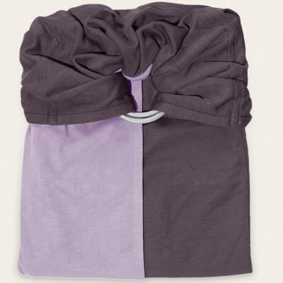 Petite écharpe sans noeud bleu lavande et marron glacé  par Je Porte Mon Bébé / Love Radius