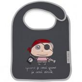 Bavoir à velcro Quand je serai grand je serai Pirate - Isabelle Kessedjian