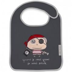 Bavoir à velcro Quand je serai grand je serai Pirate