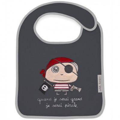 Bavoir à velcro Quand je serai grand je serai Pirate  par Isabelle Kessedjian