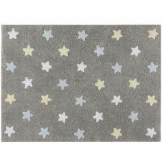 Tapis Estrellas gris bleu (120 x 160 cm)