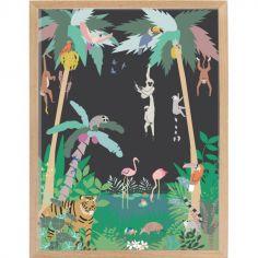 Affiche encadrée Jungle (30 x 40 cm)
