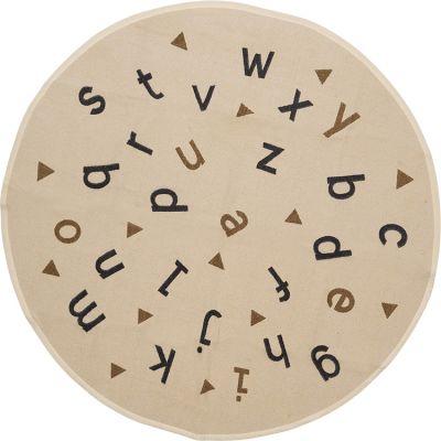 Tapis Alphabet rond beige (135 x 135 cm)  par Art for Kids