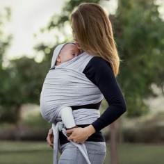 Echarpe de portage BabyWrap grise