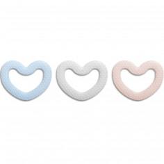 Anneau de dentition coeur (couleur aléatoire)