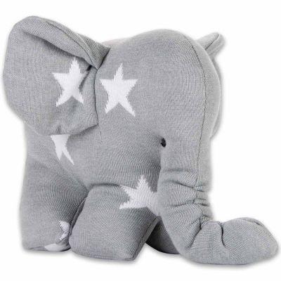 Peluche Eléphantou Star gris et blanc (30 cm) Baby's Only