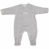 Pyjama chaud fille Poudre d'étoiles gris (6 mois : 68 cm) - Noukie's