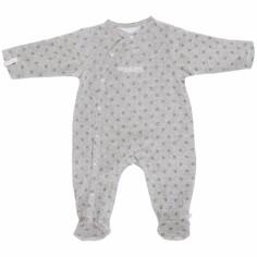 Pyjama chaud fille Poudre d'étoiles gris (6 mois : 68 cm)