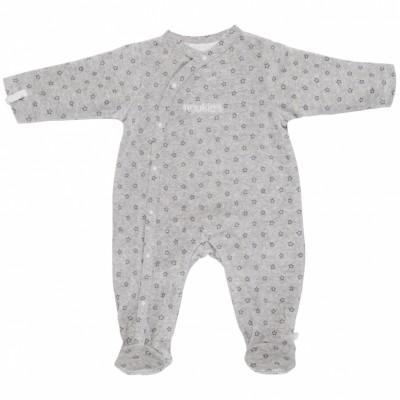 Pyjama chaud fille Poudre d'étoiles gris (6 mois : 68 cm)  par Noukie's