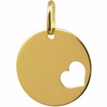 Médaille coeur ajouré (or jaune 375°)  par A.Augis