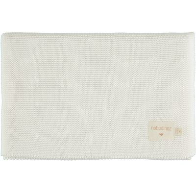 Couverture bébé tricotée blanche So Natural (70 x 90 cm)  par Nobodinoz