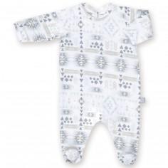 Pyjama léger jersey Apawi plum (0-3 mois : 50 à 60 cm)
