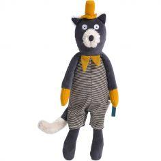Peluche chat Alphonse Les Moustaches (39 cm)