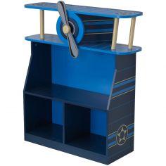 Bibliothèque avion bleue