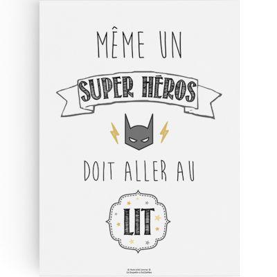 Affiche A3 Super héros  par La Poupette à paillettes