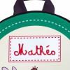 Sac à dos vert sapin (personnalisable)  par Les Griottes
