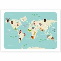 Carte A5 Le monde des animaux