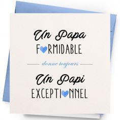 Carte Papi exceptionnel (13 x 13 cm)