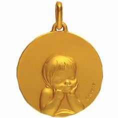 Médaille 16 mm Enfant laïque (or jaune 750°)