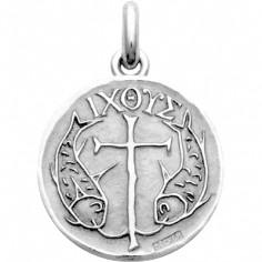 Médaille Poissons (argent 925°)