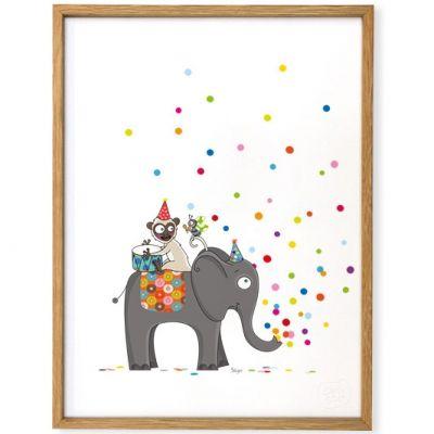 Affiche encadrée Confettis (30 x 40 cm)  par Série-Golo