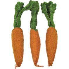 Lot de 3 carottes en feutrine