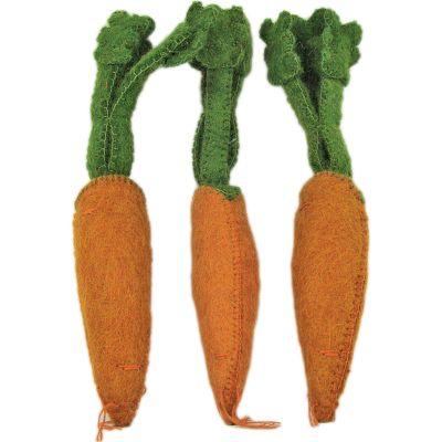 Lot de 3 carottes en feutrine  par Papoose
