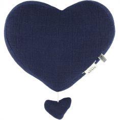 Coeur musical à suspendre Bliss bleu
