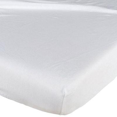 Drap housse en coton blanc (40 x 90 cm)