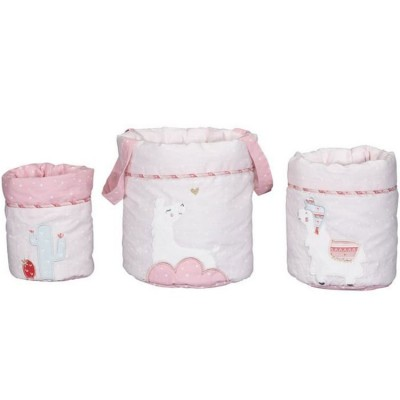 Lot de 3 paniers de toilette Mila  par Sauthon