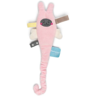 Doudou attache sucette avec clip Powder Pink Ziggy Snoozebaby