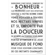 affiche encadrer bienvenue blanc 40 x 50 cm. Black Bedroom Furniture Sets. Home Design Ideas