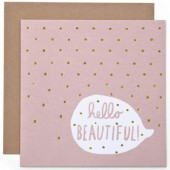 Carte Hello Beautiful et son enveloppe - Mamas and Papas