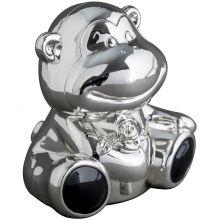 Tirelire Singe personnalisable (métal argenté)  par Daniel Crégut