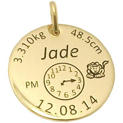 Médaille de naissance (or jaune 375°)  par Alomi